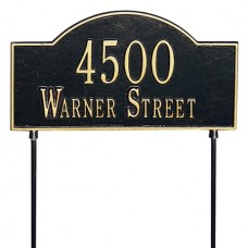 """Two-Sided Arch Marker Standard  Lawn Plaque 15.75"""" x 9.25"""""""