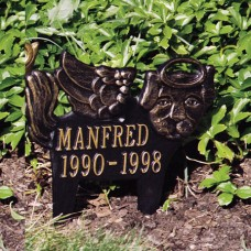 "Angel-Dog  Standard Lawn Memorial Marker 11.75 x 12.5"""
