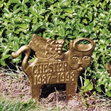 Angel-Cat  Standard Lawn Memorial Marker 11.75 x 12.5""