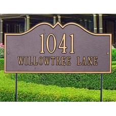 "Hillsboro Standard Lawn Plaque 16"" x 8"""