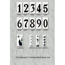 "1224 Standard 4"" Black Numbers Series 2X4"