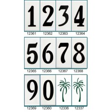 "1236 Standard 6""  Black Numbers  Series 3X6"