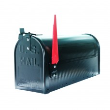 Post Mounted Mailbox  Traditional Curbside T1 Rural Mailboxes Black