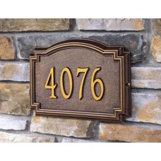 "Williamsburg Metal Estate Address Plaque 20.5"" x 12"" x1.25"""