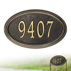 """Concord Oval Standard WALL/LAWN  Plaque 15"""" x 9.5"""" x 1.25"""""""