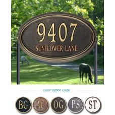 """Concord Oval Estate Lawn Plaque 20.5"""" x 13.25"""" x 1.25"""""""