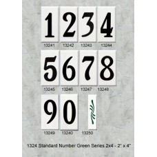 "1324 Standard 4"" Green Color Numbers Series 2X4"