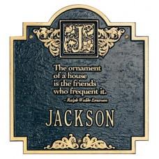 "Emerson Monogram Standard Wall Plaque 10.75"" x 11.75"""