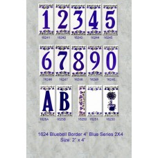 "1624 Bluebell Border 4""  Numbers  Series 2X4"