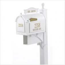 Ultimate  Whitehall Mailbox  Package - White