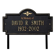 "Arlington Standard Lawn Memorial Marker 17"" x 9"""