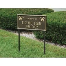 "Wilmington Standard Lawn Memorial Marker 17"" x 8.25"""