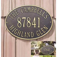 """Hawthorne Oval Estate Lawn Plaque Stakes Included 19"""" x 14"""