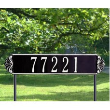 "Shell Horizontal  Estate Lawn Plaque 25"" x 6"""