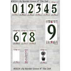 "3024 Lily Border 4""  Green Series 2X4"