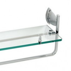 3800 Series -Solid Brass  Glass Shelf with Bar
