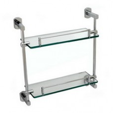 3900 Series -Solid Brass  Double Glass Shelf