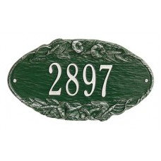 """Morning Glory Oval Standard Wall Plaque 13.5"""" x 7.75"""""""