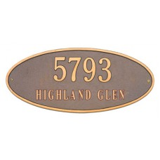 """Madison Oval Standard Wall Plaque 17.5"""" x 7.75"""""""
