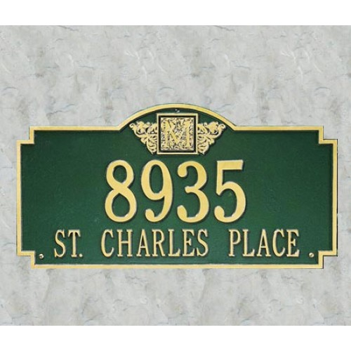 Monogram Plaque House Address Plaque At Rpm Hardware