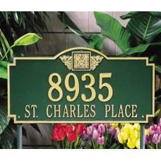 """Monogram Estate Lawn Plaque23.25 x 12.25"""""""