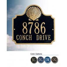 "Conch Standard Wall Address Plaque 10.75"" x 10"""