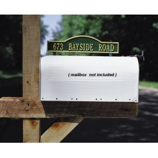 """Two-sided Mailbox Address Arch Marker  14.34"""" x 3.5"""""""
