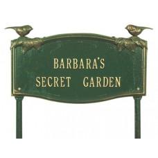 """Vine/Chickadee Garden Lawn Plaque 17"""" x 9.125"""""""