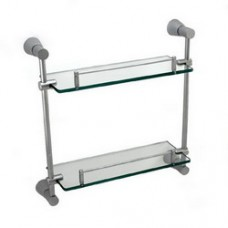5500 Series -Solid Brass  Double Glass Shelf