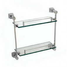 5600 Series - Solid Brass Double Glass Shelf