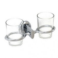 5900 Series -Solid Brass  Double Glass Holder