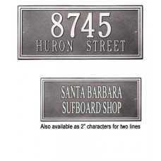 """Double Line Standard Wall Plaque  13"""" x 7.25"""""""