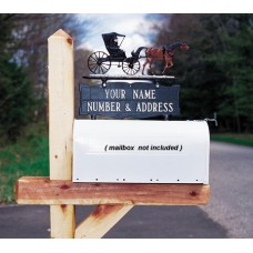 """Two-sided Two Line Mailbox Sign  5.25"""" x 14.5"""""""
