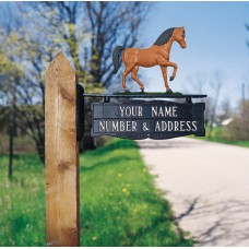 """Two-sided Two Line Post Sign  5.25"""" x 14.5"""""""