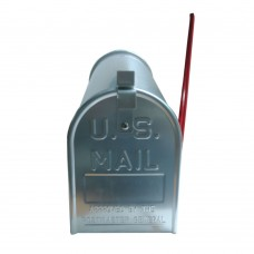 Post-Mount Curbside Medium Capacity Aluminum Mailbox with Flag