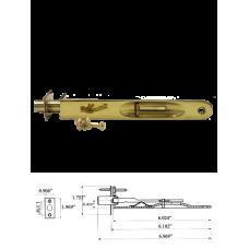 """6"""" Solid Brass Flush Bolt in Bright Brass"""