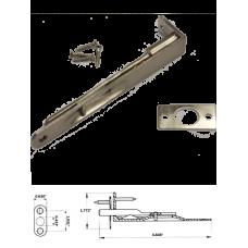 "5"" Solid Brass Flush Bolt in Satin Nickel"