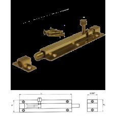 """5"""" Solid Brass Door Barrel Bolt"""