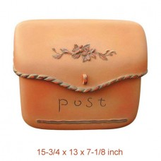 Wall Mount Pouch Composite Mailbox  in Orange