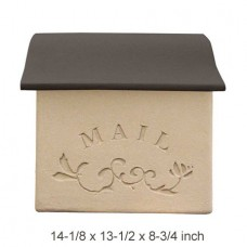 Wall Mount Stucco Composite Mailbox  in Mild Brown