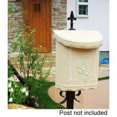 Wall Mount Bouquet Composite  Mailbox in Beige