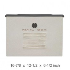 Wall Mount Crea Composite Locking Mailbox in White