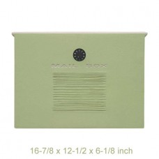 Wall Mount Crea Composite Locking Mailbox in Mint