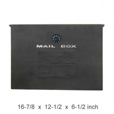 Wall Mount Crea Composite Locking Mailbox in Wither Black