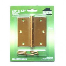 "3.5"" x3.5"" x2.0mm  Square Corner  Brass Hinges"