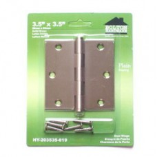 """3.5""""x3.5""""x2.0mm Square Corner Solid Brass Hinges"""