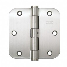 "3.5"" x3.5""  5/8""  Round Corner Non Removable Stainless Steel Hinge"