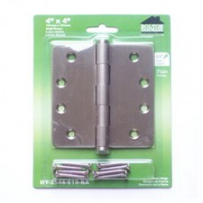 "4 inch x 4 inch x 2.5mm 1/4""  Radius  Brass Hinges"