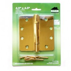"4.5inch x 4.5inch x 2.5mm 1/4""  Radius Solid Brass Hinges"