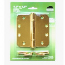 "4.5inch x 4.5inch x 2.5mm 5/8""  Radius Solid Brass Hinges"